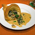 Escargot in a Puff pastry Cornucopia by wolftinz