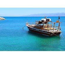 Hirsonissos Harbour Photographic Print