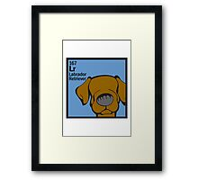 Lab (Chocolate) - The Dog Table Framed Print