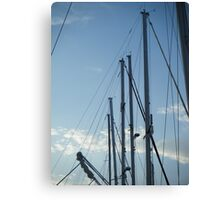 Sailboats masts in Sky Canvas Print