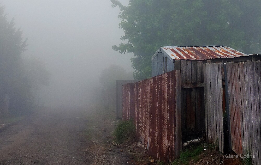 the clouds rolled in and my laneway disappeared by Clare Colins