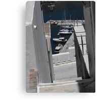 Greek Island Stone Staircase Canvas Print