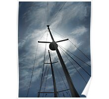Masts in Sunlight Poster