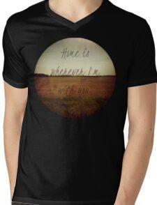 Home Is Wherever I'm With You Mens V-Neck T-Shirt