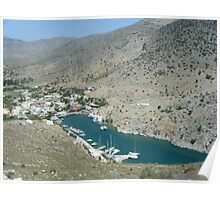 Amazing Greek Island Sailboat Harbor View #photography Poster