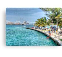 Atlantis view from Arawak Cay in Nassau, The Bahamas Canvas Print