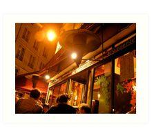 parisian cafe Art Print