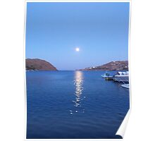 Full Moon in Patmos Poster