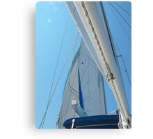 Sailboat Amel Sail in the sky 2 #photography Canvas Print