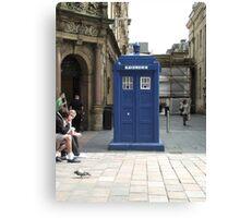 A TARDIS in Glasgow?  Canvas Print
