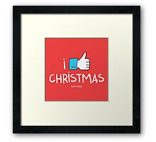 i like Christmas (with you) Framed Print