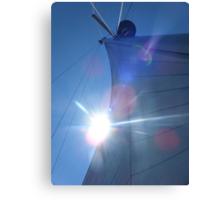 Sailboat sail in sunlight Canvas Print