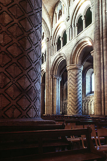 Pillar in nave Durham Cathedral 198101040034 by Fred Mitchell