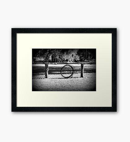 Cattle Ranch Framed Print