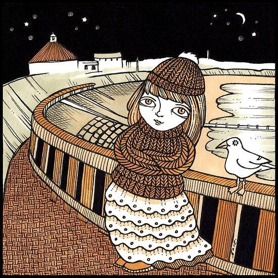 Moiras Moonlight (Aberdeen Beach) by Anita Inverarity