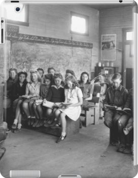 Rural Classroom~Warren County Tennessee 1940's by © Brady-Hughes- Beasley Archives