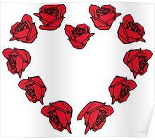 rose - heart Poster