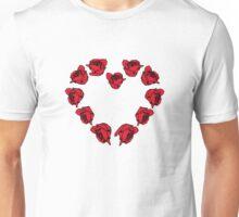rose - heart Unisex T-Shirt