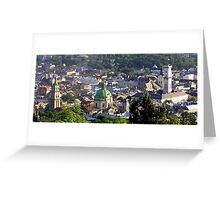 sunset over lviv Greeting Card