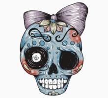 Blue Sugar Skull by Ella Mobbs