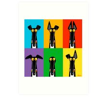 Greyhound Semaphore Art Print