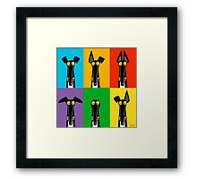 Greyhound Semaphore Framed Print