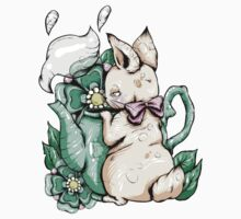 Bunny With Teapot by Ella Mobbs