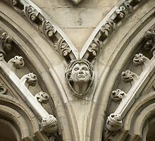Detail, Westminster Abbey by Peggy  Woods Ryan