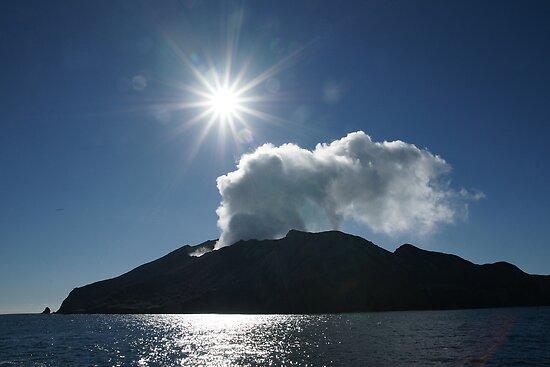 White Island volcano. New Zealand. by Ian Hallmond