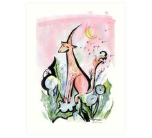 Romantic Unicorn Art Print