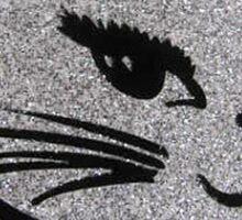Silver Winking Cat Sticker