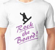 Rock the snow - Snowboarder Unisex T-Shirt