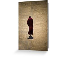 Solemn Monk Greeting Card
