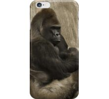 Bored to Death Gorilla  iPhone Case/Skin