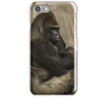 Bored to Death Gorilla  iPhone Case/Skin