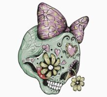 Green Sugar Skull by Ella Mobbs