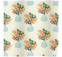 Autumn Blooms All over Poster