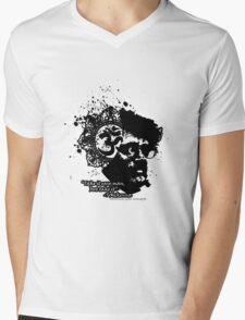 Terrance Mckenna Head Ohm Explosion Mens V-Neck T-Shirt