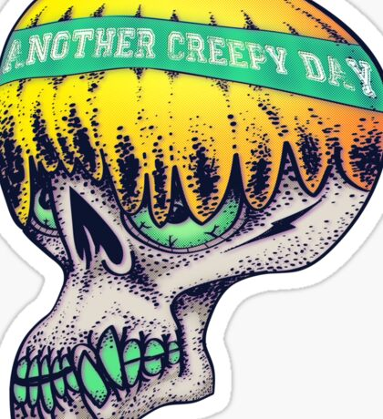 creepy skull Sticker