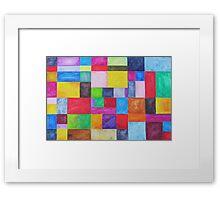 blox Framed Print