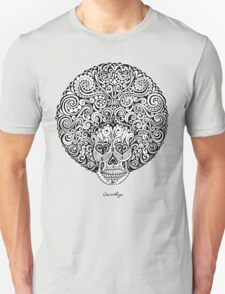 Psychedelic Afro Skull Unisex T-Shirt