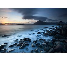 elgol beach sunset Photographic Print