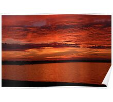 Fourth of July Sunset 2 Poster