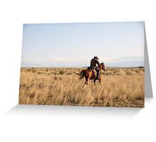 High Trot to the Lower Pasture  Greeting Card