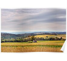 Windy & Overcast October Pennsylvania View Poster
