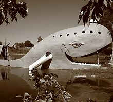 Route 66 - Blue Whale by Frank Romeo