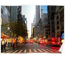 5th Avenue, New York City  Poster
