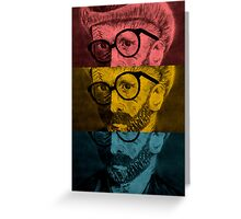Hipster Van Gogh Greeting Card