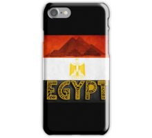 Egypt flag and pyramids iPhone Case/Skin