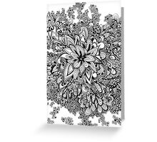 Doodle blossoms Greeting Card